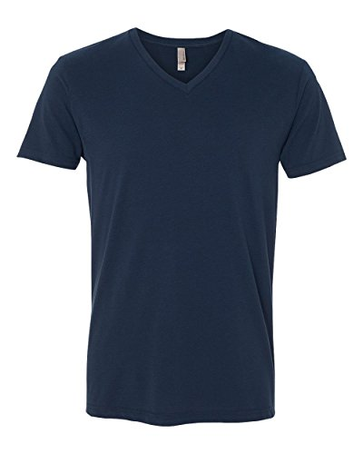 Next Level Apparel 6440 Mens Premium Fitted Sueded V-Neck Tee - Midnight Navy, Extra Large