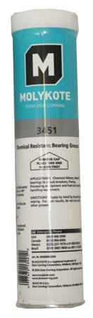 Dow Corning Molykote 3451 Chemical Resistant Bearing Grease 550g Cartridge by Corning