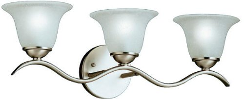 Kichler 6323NI Dover Bath 3-Light, Brushed Nickel