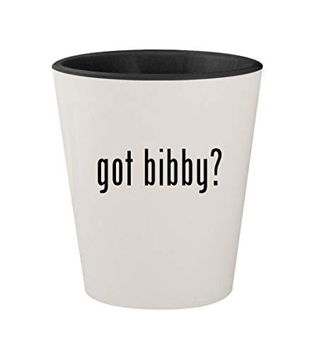 got bibby? - Ceramic White Outer & Black Inner 1.5oz Shot Glass