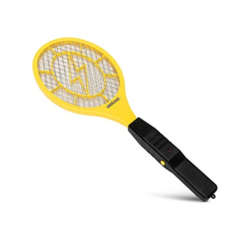 Electric Fly Swatter, Mini Bug Zapper Battery Powered for Mosquito, Flies Killer for Pest Control Indoor and Outdoor, 3000 Volt Power and Triple-Layer Safety Mesh, Bug Zapper Racket Insect Killer