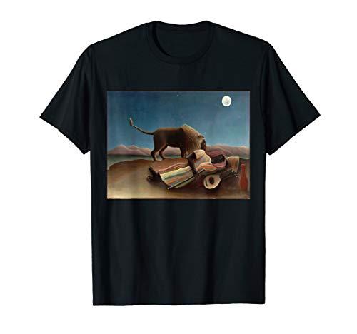 Henri Rousseau Artwork - Henri Rousseau's The Sleeping Gypsy T-Shirt