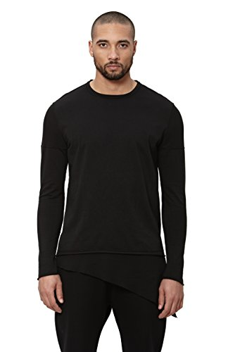 Uncommon Thrds Long Sleeve Asymmetric Hem Thermal Contrast Black - Medium by UNCOMMON THRDS