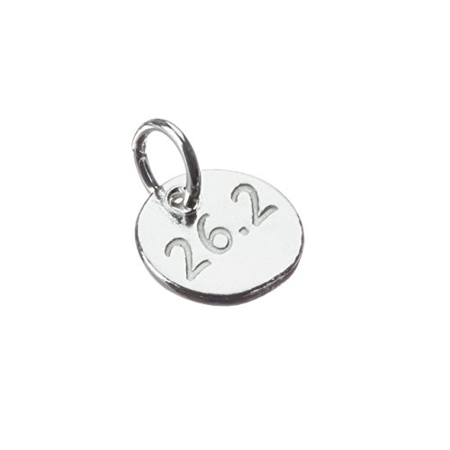 Running Jewelry, One TINY 26.2 sterling silver running charm. (Necklace Marathon)