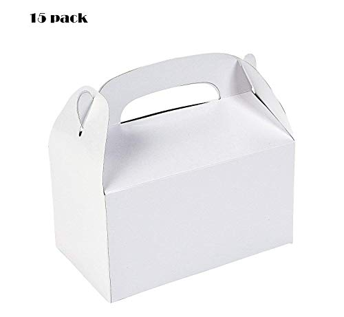 Cardboard Treat Boxes,Cake Boxes used for packing gifts and toys,Bakery Cake Cupcake Cookies Chocolate Box Container,Lock Corner DIY Gift Packing Box ()