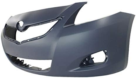 NEW FRONT BUMPER COVER W// FOG LAMP HOLES FITS 07-08 TOYOTA YARIS TO1000325C CAPA