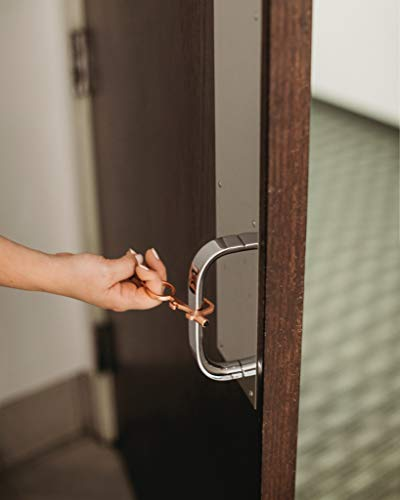 interval Social Distancing Multi-Tool (Rose Gold) – No Touch Door Opener and Stylus Supports Hands-Free Opening of Doors and Use of Keypads and POS Terminals – Safe Touch Tool for Keychains