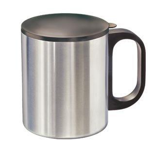 Camping-Küchenbedarf Metall Kaffeebecher Edelstahl Kaffeetasse mit Deckel für Camping Outdoor Kochutensilien