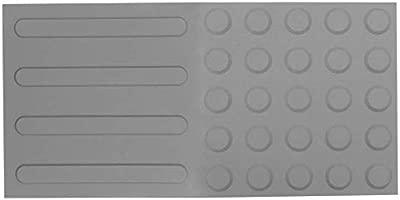 Baldosa podot/áctil pavimento t/áctil de Ciegos invidentes de 30x30cm con Franjas Amarillo 10-Pack PrimeMatik