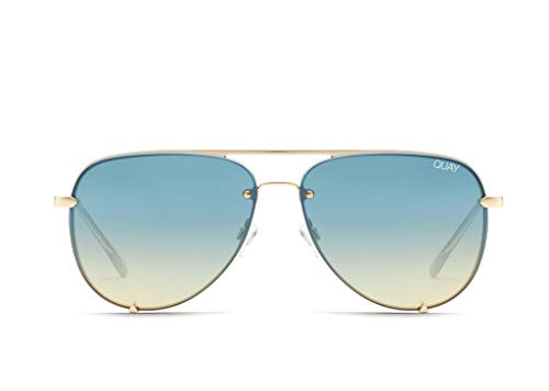 Quay Australia x Desi Perkins Women's High Key Rimless Aviator Sunglasses