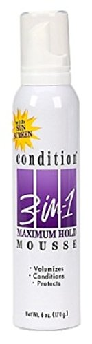 Condition 3 In 1 Sunscreen - Condition 3-N-1 Mousse 6 Ounce Maximum With Sunscreen (177ml) (6 Pack)