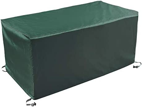 AlaSou Square Deck Box Covers,Storage Box Cover with Straps and Handles,Patio Deck Box Cover fit for Deck Boxes Dark Green 62