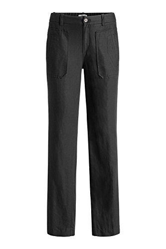 Esprit 001 Edc Mit black By Negro Pantalones Leinen Para Mujer qwgFWwCx56