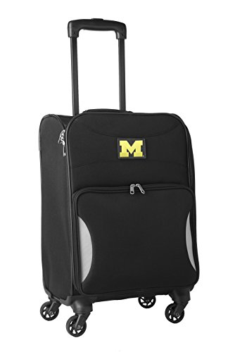 NCAA Michigan Wolverines Lightweight Nimble Upright Carry on Trolley, 18-Inch, Black by NCAA