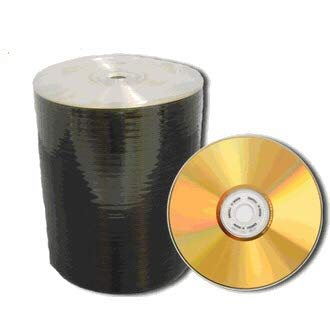 Mitsui 100 PCS MAM-A 80M CD-R Gold Thermal in Shrink Wrap