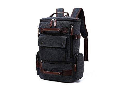 Borse all' aperto, per esterni e interni multiuso tela zaino da uomo, borsa da viaggio grande capacità alpinismo borse (nero)