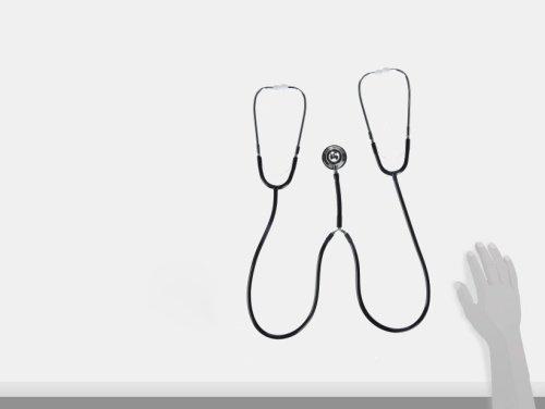 Veridian 05-132 Teaching/training Aluminum Dual Head Stethoscope, Black by Veridian (Image #2)