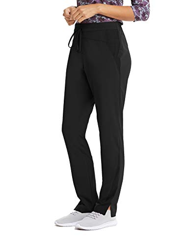 Barco Wellness BWP506 Women's 4 Pocket FlatGel Drawcord Cargo Scrub Pant Black L