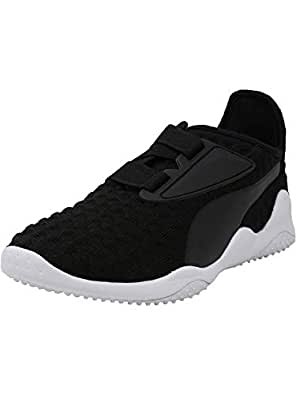 Puma Men's Mostro Bubble Knit Black/White Ankle-High Running Shoe - 10.5M