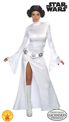 Rubie's Star Wars Princess Leia Costume and Wig, White, Small