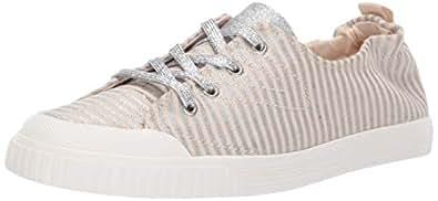 TRETORN Women's MEG Sneaker, Natural+Silver, 4 M US