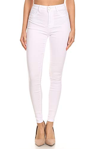 Women's Super Stretch Skinny Jegging Pants White Medium