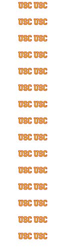 University Southern California USC Nail Sticker Decals