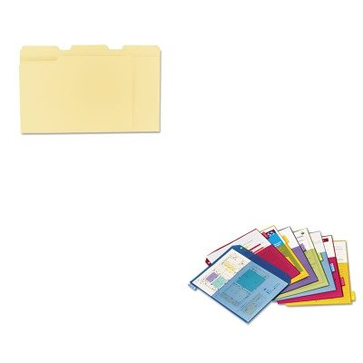 KITCRD84004UNV12113 - Value Kit - Cardinal Poly 2-Pocket Index Dividers (CRD84004) and Universal File Folders (2 Poly Value Kit)