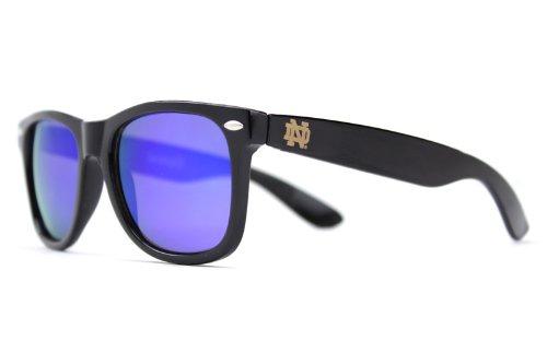 NCAA Notre Dame Fighting Irish  ND-5 Black Frame, Blue Lens Sunglasses, Black, One - Dame Notre Sunglasses