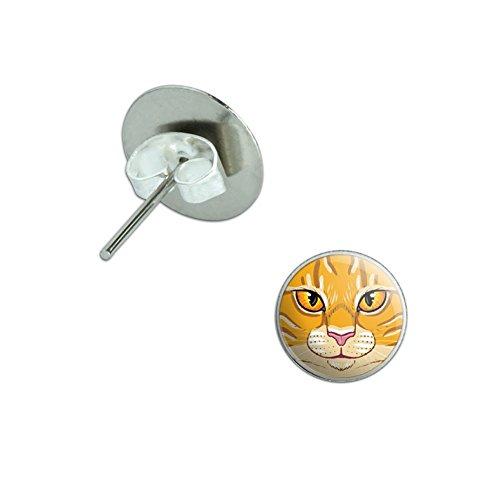 Orange Tabby Cat Face Earrings