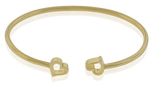 Alex and Ani Women's Heart Cuff Bracelet, 14kt Gold Plated ()