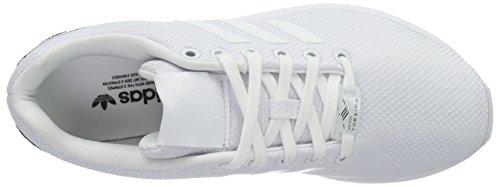 adidas Zx Flux W, Zapatillas de Gimnasia para Mujer Blanco (Ftwwht/Ftwwht/Cblack)