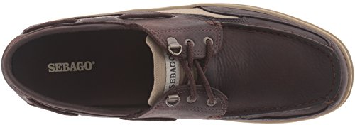 Leather Náuticos para Clovehitch Il Dark Hombre Brown Sebago S01qTx