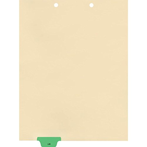 End Tab Chart Divider (Medical Arts Press Match Colored End Tab Chart Dividers- Lab, Position 2 (100/Pkg) (56802))