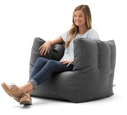 Peachy Amazon Com Giant Bean Bag Chairs For Adults Grey Cube Evergreenethics Interior Chair Design Evergreenethicsorg
