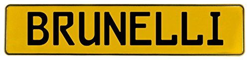 Vintage Parts 607096 Wall Art (Yellow Stamped Aluminum Street Sign Mancave Brunelli)