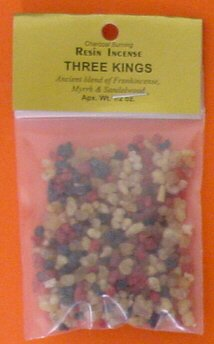Three Kings - 1/2 Ounce Resin Incense - Frankincense, Myrrh, and Sandalwood - incensecentral.us