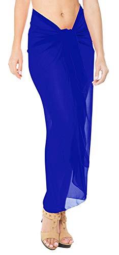 Royal Ba Estola Mujer Chiffon Piscina Blue Mono Pareo Playa Sarong colores 60 Vestido Bikini o Monedero Falda IZqBfg