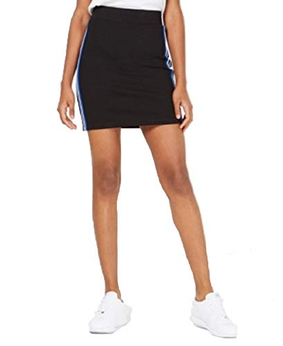 Ultra Flirt by Ikeddi Juniors' Varsity-Stripe Mini Skirt (Black, XL)