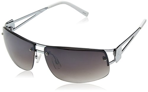 Rocawear Men's R1022 SLV Rectangular Sunglasses, Silver, 65 ()