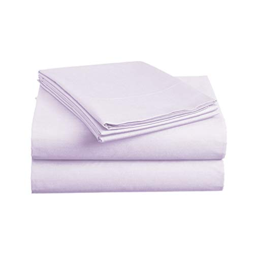 Luxe Bedding Sets - Microfiber Sheet Set 4 Piece Bed Sheets, Deep Pocket Fitted Sheet, Flat Sheet, Pillow Case, Lavender, King