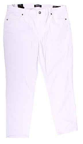 Buffalo David Bitton Womens Super Stretch Skinny Ankle Grazer Pant (12 32,  White 5f992718c7