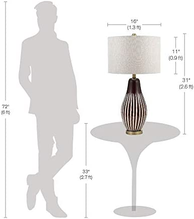 """31"""" Eclectic Aztec Inspired Table Lamp W/Shade Bulb Included 20886-001 Tan Modern Contemporary Bulbs"""