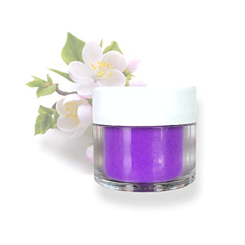 Purple Edible Petal Dust Food Coloring Powder, 4g Jar | Bakell Food Grade Decorating Glitters and Dusts for Dessert, Foods & Drink Garnish