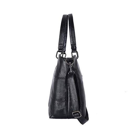 32cm 2Pcs Bags 27cm Women Black 13cm Shoulder Leather PU Gray1 rxZrq6Y