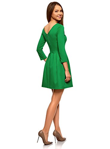 Ultra Robe Ajuste Vert 6e00n Femme Maille en oodji qFaAA