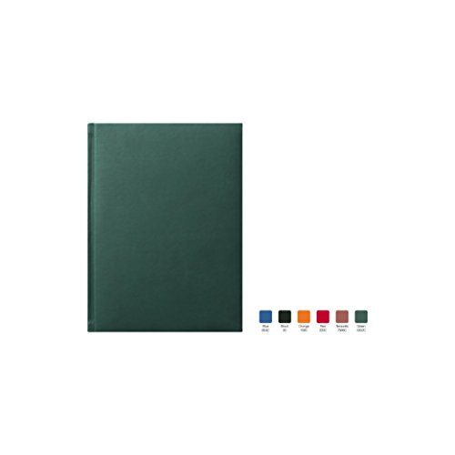 SYMPHONY Ruled, Padded Executive Hardcover Notebook Journal with Premium Paper, 256 Lined Pages, With Book Mark Ribbons, Lined Pages, Green Cover, Size 5.75