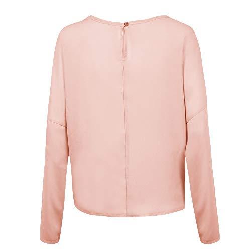 Femme Manteau Veste Blouse Tie Cebbay Parka Sweatshirt T Manche Rose Sweat et Shirt Pull Robe Hiver Chemisier Sweater Automne Longue Chaud Haut Casual Top Pullover 1wqRw5F