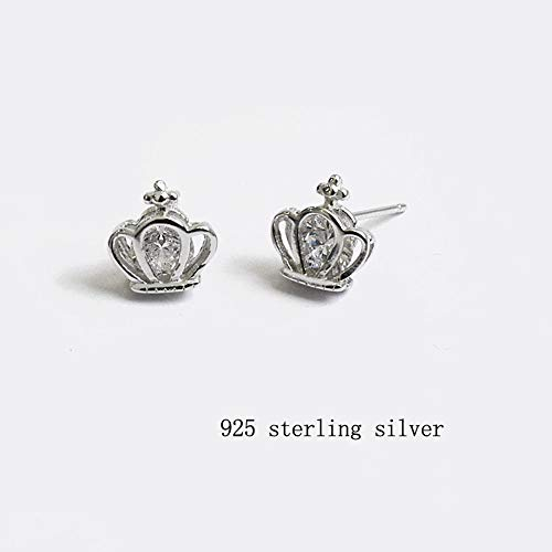 Elegant Women Delicate Stud Earrings Silver Earring Jewelry Gift Crown Design