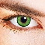 Lentilles De Contact De Couleur Bicolores Vert (sans correction)